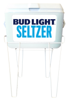 48QT White Rubbermaid Cooler with Bud Light Seltzer Full Panel D