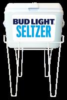 48QT White Rubbermaid Cooler with Bud Light Seltzer Full Panel D