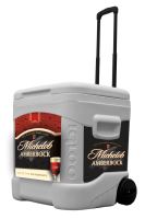 Amberbock 60 Quart Rolling Cooler With Full Brand Graphics