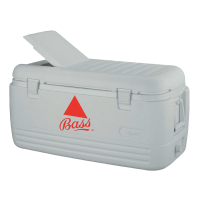 Bass 100 Quart  White Igloo Cooler With Logo