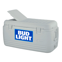 Bud Light 100 Quart  White Igloo Cooler With Brand Logo