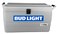 Bud Light 54 Quart  White Igloo  Marine Cooler With Logo