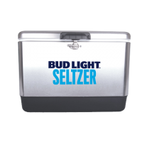 Bud Light Seltzer 54 Quart  Stainless Steel Cooler With Logo