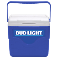 Bud Light 9 Quart Cooler in Blue with Full Panel Logo