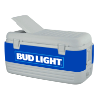 Bud Light Blue 100 Quart Igloo Cooler With Wrap Graphics