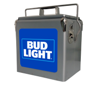 Bud Light Blue 13 Quart Retro Cooler