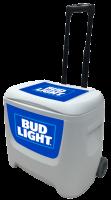 Bud Light 28 Quart White Cooler