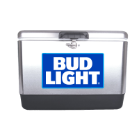 Bud Light Blue 54 Quart  Stainless Steel Cooler With Logo