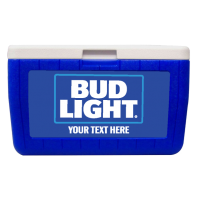 Bud Light Customized 48 Qt. Cooler With Full Decal