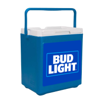 Bud Light 20 Can Stacker in Blue with Full Panel Logo