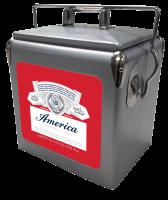 Budweiser America 13 Quart Retro Cooler
