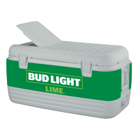 Bud Light Lime 100 Quart Igloo Cooler With Wrap Graphics