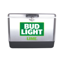 Bud Light Lime 54 Quart  Stainless Steel Cooler With Brand logo