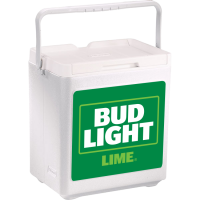 Bud Light Lime 20 Can Stacker in White with Full Panel Logo