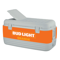 Bud Light Orange 100 Quart Igloo Cooler With Wrap Graphics