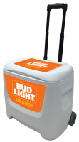 Bud Light Orange 28 Quart White Cooler