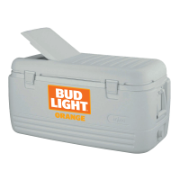 Bud Light Orange 100 Quart White Igloo Cooler With Brand Logo