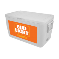 Bud Light Orange 48 Quart Cooler With Full Brand Graphics