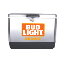 Bud Light Orange 54 Quart  Stainless Steel Cooler With Brand log