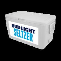 Bud Light Seltzer 48 Quart White Cooler With Full Brand Graphics