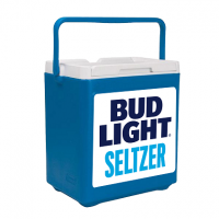 Bud Light Seltzer 20 Can Stacker in Blue with Full Panel Logo