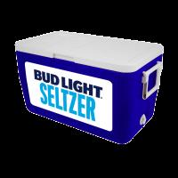 Bud Light Seltzer 48 Quart Blue Cooler With Full Brand Graphics