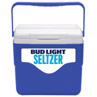 Bud Light Seltzer 9 Quart Cooler in Blue with Full Panel Logo
