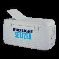 Bud Light Seltzer 100 Quart White Igloo Cooler With Brand Logo