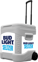 Bud Light Seltzer 60 Quart Rolling Cooler With Brand Graphics