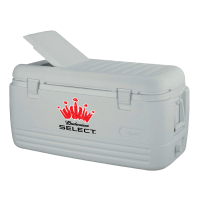 Bud Select 100 Quart  White Igloo Cooler With Brand Logo