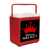 Bud Select 20 Can Stacker in Red with Full Panel Logo