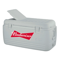 Budweiser 100 Quart  White Igloo Cooler With Brand Logo
