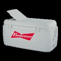 Budweiser 100 Quart  White Igloo Cooler With Brand Logo