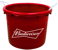 Budweiser 19 Gallon Keg Tub with Brand Logo