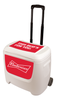 Budweiser 28 Quart White Cooler