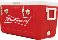 Budweiser 2 Faucet Coil Draught Box with Brand Logo