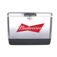 Budweiser 54 Quart  Stainless Steel Cooler With Brand logo