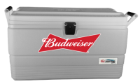 Budweiser 54 Quart  White Igloo  Marine Cooler With Logo