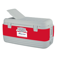 Budweiser America 100 Quart White Igloo Cooler With Wrap Graphic