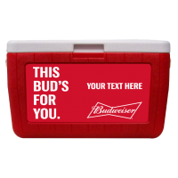 Budweiser Customized 48 Qt. Cooler With Full Decal