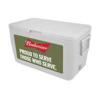 Budweiser Veterans 48 Quart Cooler In Military Green