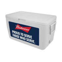 Budweiser Veterans 48 Quart Cooler In Navy Blue