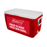 Budweiser Veterans 48 Quart Cooler In Red
