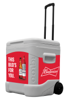 Budweiser with Bottles 60 Quart Rolling Cooler