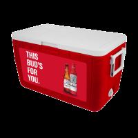 Budweiser with Bottles 48 Quart Cooler