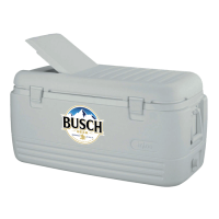 Busch 100 Quart  White Igloo Cooler With Brand Logo