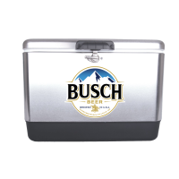 Busch 54 Quart  Stainless Steel Cooler With Brand logo