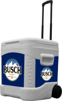 Busch 60 Quart Rolling Cooler With Full Brand Graphics