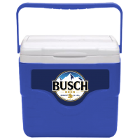Busch 9 Quart Cooler in Blue with Full Panel Logo