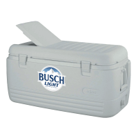 Busch Light 100 Quart White Igloo Cooler With Brand Logo